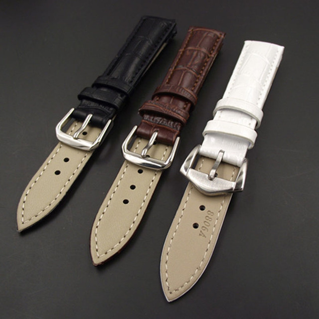 New Leisure Durable Fashion 18/20mm Croco Grain Style PU Leather Watch Band Strap 88 TT@88