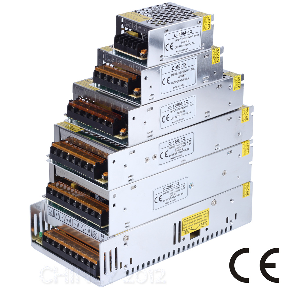 DC 12V 3A/5A/8A/12A/20A/29A/41A 40W-500W LED Switch Power Supply Driver for LED Strip LED Module LED Lights