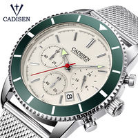 CADISEN Mens Watches Top Brand Luxury Waterproof Wrist Watches Stainless steel Date Simple Casual Quartz Watch Men Sports Clock