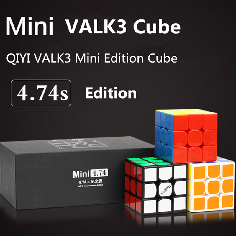 QIYI 3x3x3 Mini Valk3 Magic Speed Cube Competition Game 47.4MM Speed Puzzle Cube Educational Toys VALK3 Mini Magico Cubo Kids newest qiyi warrior w 3x3x3 profissional magic cube competition speed puzzle cubes toys for children kids cubo magico qi103