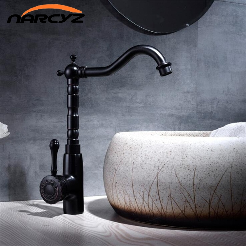 Kitchen Faucet Brass bathroom tap black basin faucet kitchen sink tap brass tap torneira banheiro basin stand mixer water XT-133 kitchen faucet rotation rule shape curved outlet pipe tap basin plumbing hardware brass sink faucet