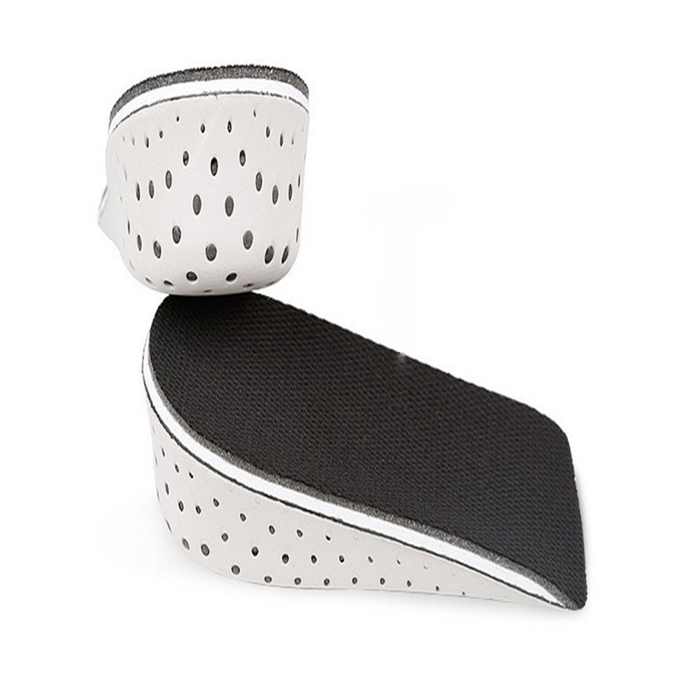 Plantillas medias transpirables para zapatos Unisex, plantillas de aumento de altura de 2-4cm, plantilla para elevar el talón, cojines, 1 par