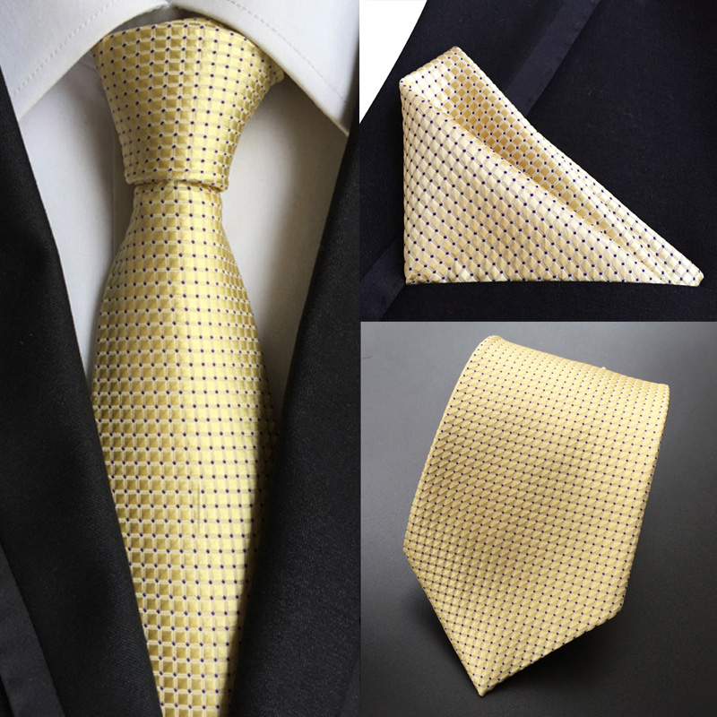 """New 10/"""" 100/% Silk  Pocket Square Yellow Houndstooth"""