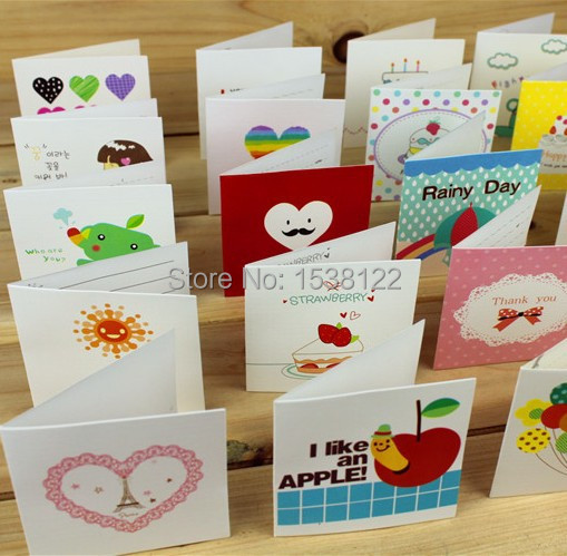 Creative Small Blessing Thanks Greeting Cards Wholesale Cartoon