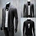 Бесплатная доставка осень новое прибытие мужская мода кардиган куртки свитер 2017 личности тонкий кардиган мужской верхней одежды