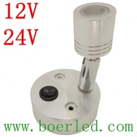 FREE SHIPPING 1W 12V 24V BEDSIDE LED WALL READING LAMP