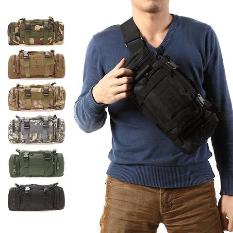 Outdoor Military font b Tactical b font Waist Pack 600D Waterproof Oxford Molle Camping Hiking Pouch