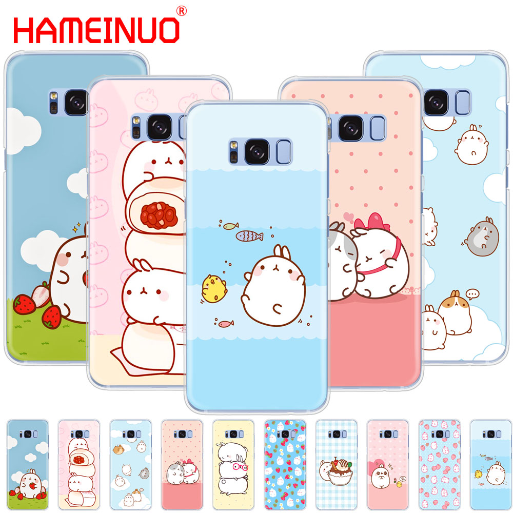 HAMEINUO Molang rabbits Cutest Kawaii Box Potatoes cell phone case cover for Samsung Galaxy S9 S7 edge PLUS S8 S6 S5 S4 S3 MINI Сотовый телефон