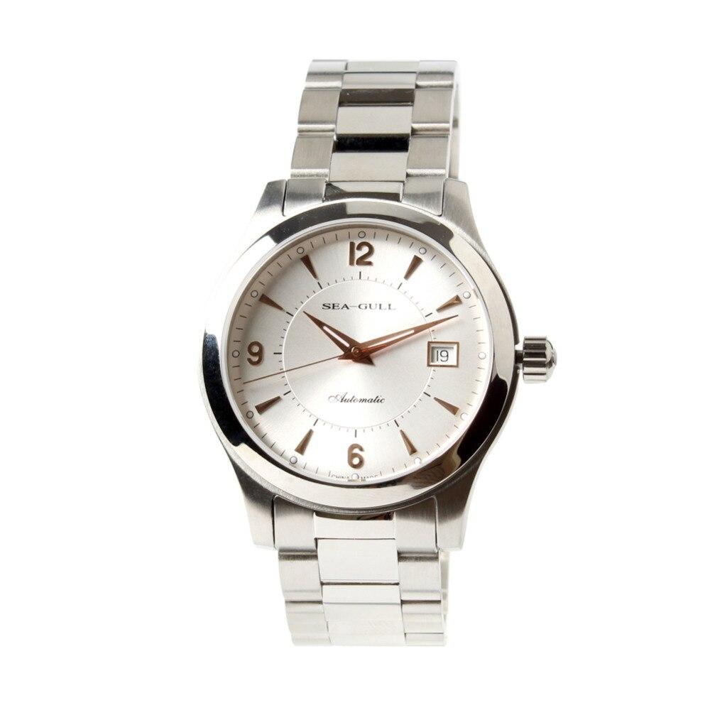 Mewa różowe złoto wskazówki nakręcanie wystawa powrót ST2130 ruch automatyczny męski zegarek biznesowy 816.351 w Zegarki mechaniczne od Zegarki na  Grupa 3