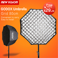 "Godox portable 80 cm/32 ""paraguas + grid foto softbox reflector para flash speedlight"