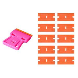 Image 5 - EHDIS חלון ניקוי מגב גילוח מגרד + 10 pcs פלסטיק להב רכב Tinting כלים רכב מדבקת סרט דבק מסיר ויניל לעטוף כלי