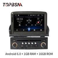 TOPBSNA 1 din 7 дюймов Android 6,0 автомобильных мультимедийных для peugeot 307 2007 2011 радио gps навигации WI FI зеркало link головного устройства