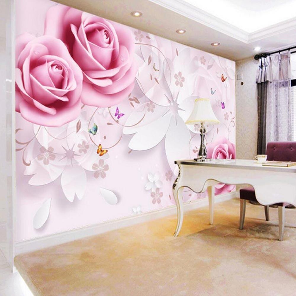 Rose Flower Wallpaper Mural Large Photo Wallpaper For Living Room