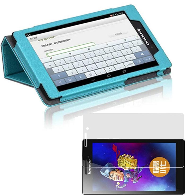 """Luksuslik Ultra Õhuke Slim Folio Stand kaanega Magnetne nahast ümbris + 1x selge ekraani kaitsja Lenovo Tab 2 Tab2 7.0 A7-10F 7 """""""
