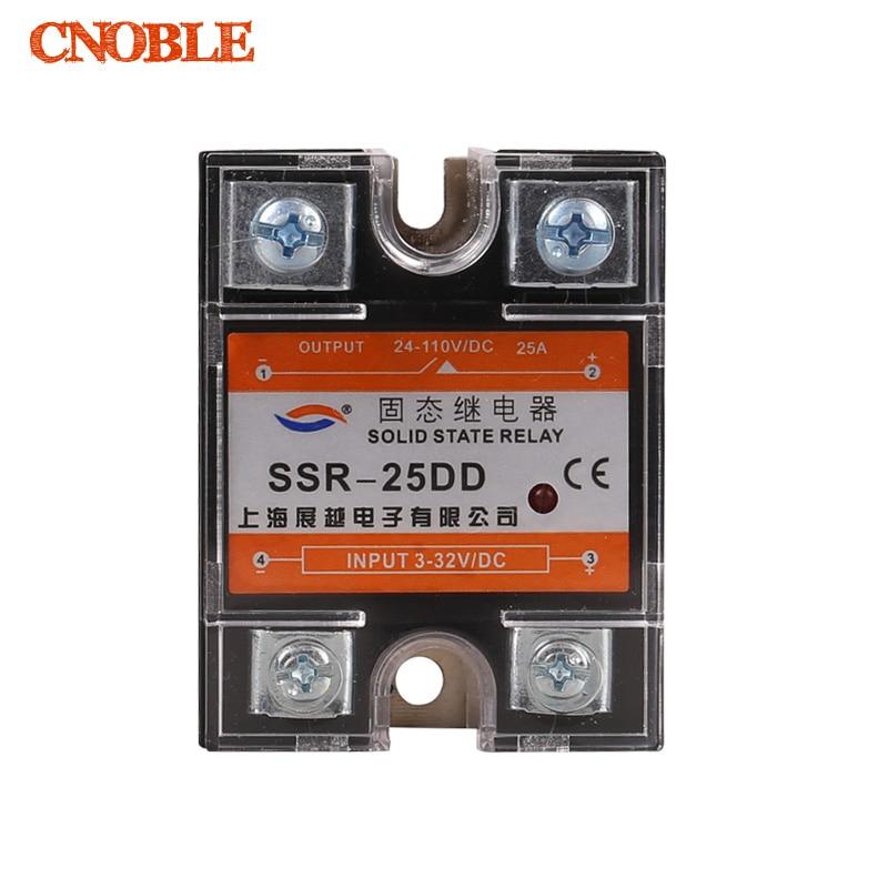 Подробнее о 25DD SSR input 3~32VDC load 5~110VDC DC single phase DC solid state relay soild state relay ssr 25 dd dc dc 25a 3 32vdc 5 200vdc