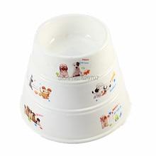 Cartoon Print Plastic font b Dog b font Cat Bowl Anti Skid Portable Feeding and font