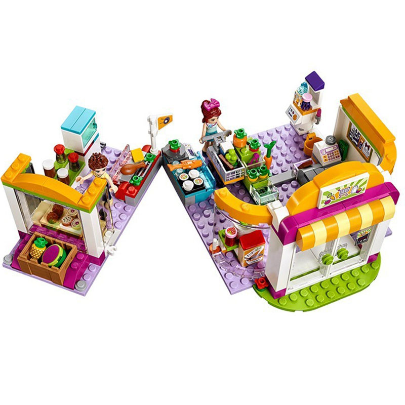 318 pcs/lot girly educational intelligent playing house building block toys for girls as best gift and birthday present