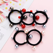 1pcs / Wholesale Ladies And Girls Hair Accessories Pearl Elastic Band 5 Styles Ponytail Clip Multicolor