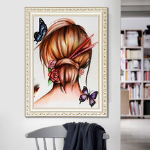 DIY diamond painting Butterfly on hair 5d icon embroidery mosaic decoration new year gift