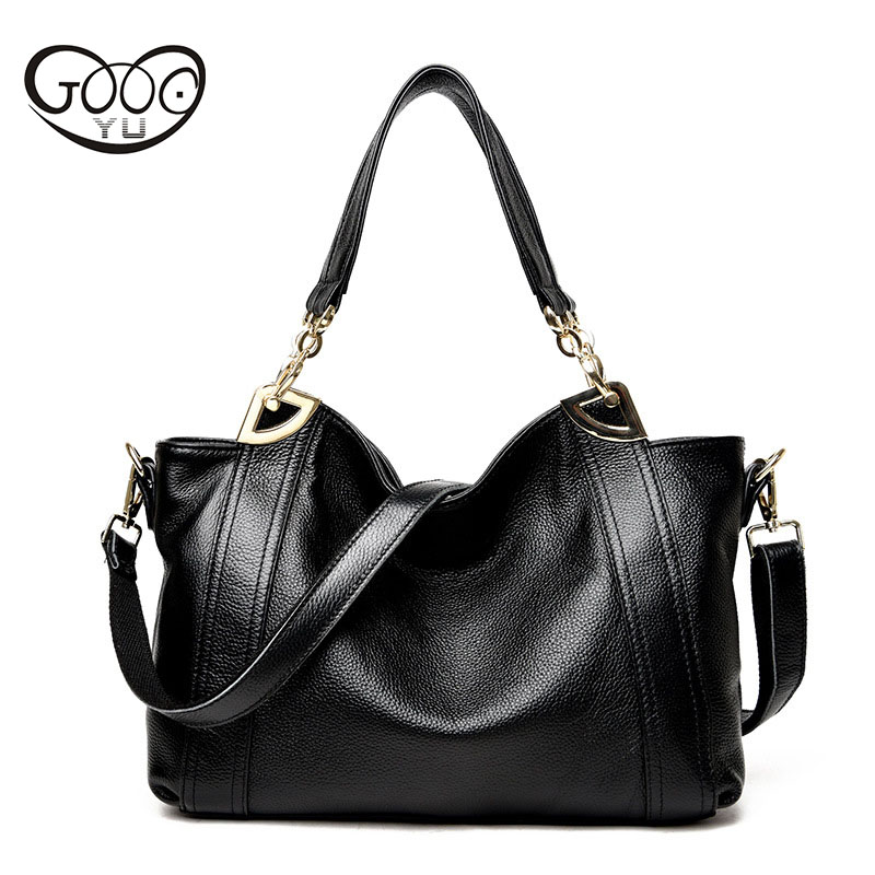 где купить The new European and American fashion first layer of cowhide shoulder oblique cross handbag ladies bag large capacity female pac по лучшей цене