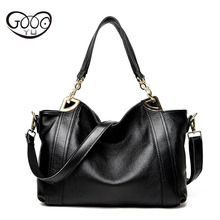 The new European and American fashion first layer of cowhide shoulder oblique cross handbag ladies bag large capacity female pac цены онлайн