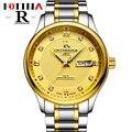 Fotina R Relógio Marca de Topo Homens de Negócios Relógio de Aço Inoxidável Completa Casual Azul Relógio de Ouro Dos Homens Do Esporte Relógios de Pulso Relogio masculino