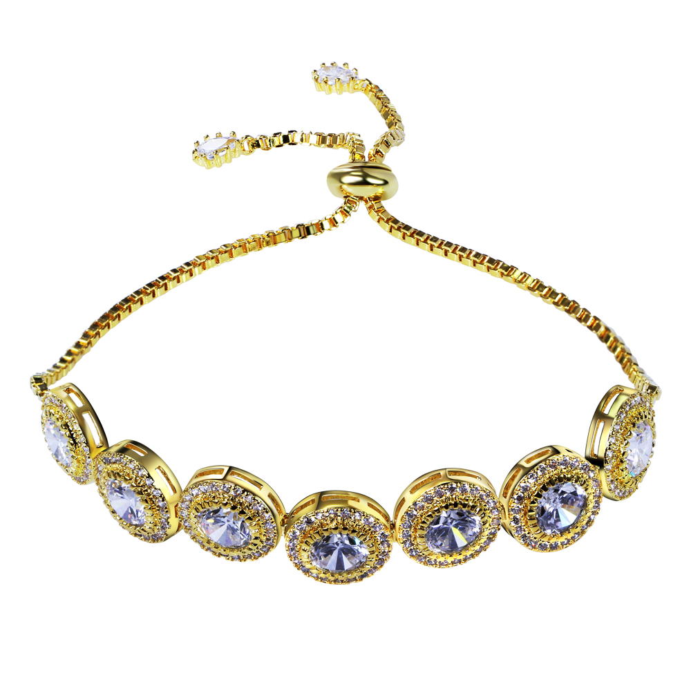 Love Charm Bracelets for women high quality copper material setting Cubic zircon fashion jewelry Free shipment