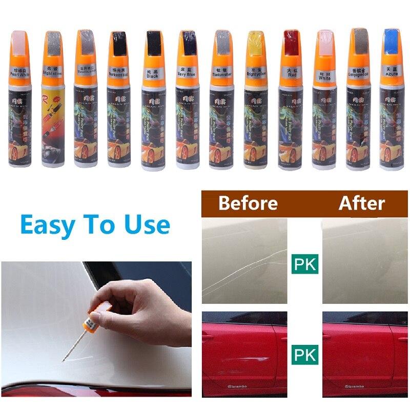 Car Scratch Repair Pen 1PC Pro Auto Car Coat Paint Pen Touch Up Scratch Clear Repair Remover Pen Silver / Black /Blue / Green