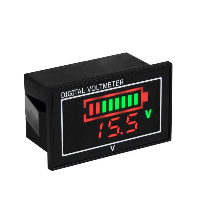 0.56in DC 7V-80V Mini Digital Panel Voltage Meter Voltmeter Waterproof High Precision LED Display Gauge Panel Voltage Meter