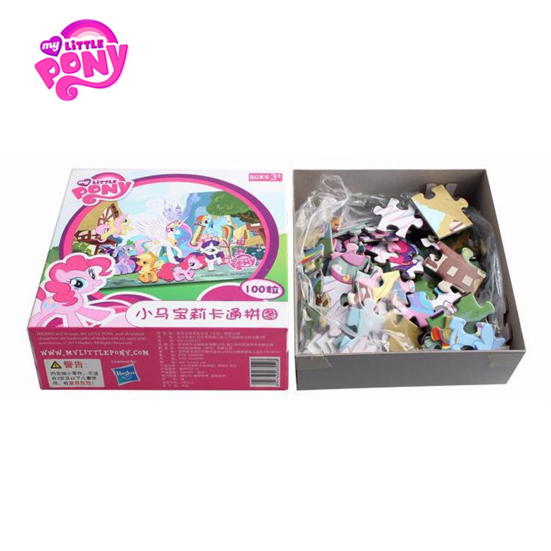 <font><b>Hasbro</b></font> My Little Pony Scene <font><b>Puzzle</b></font> Jigsaw Scenario Games Intelligence Educational Toy Birthday Best Gift For Kids'Christmas