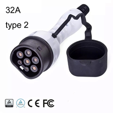 EV plug EVSE Electric car Charger Type 2  level 2 32A female  110 250V multicomp Three phase