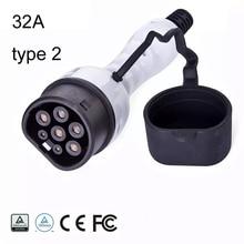 EV plug EVSE Elektrische auto Oplader Type 2 niveau 2 32A vrouwelijke 110 250V multicomp Drie fase