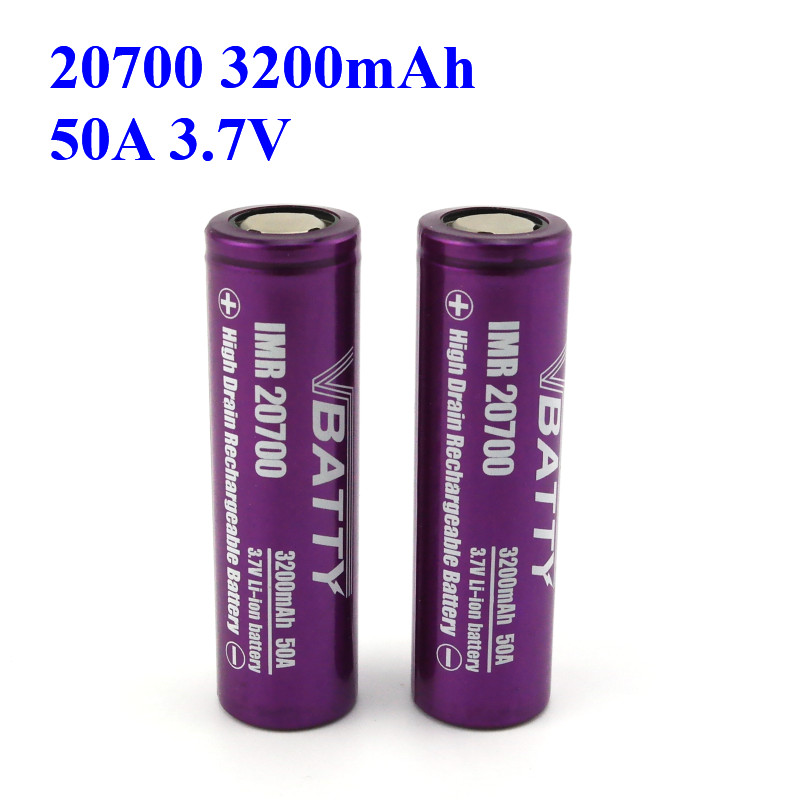 Best 20700 Battery For Vaping Cheap Price And High Quality Vbatty 20700 Battery 3.7V 20700 Battery Safety 3200mah 50A (1pc)