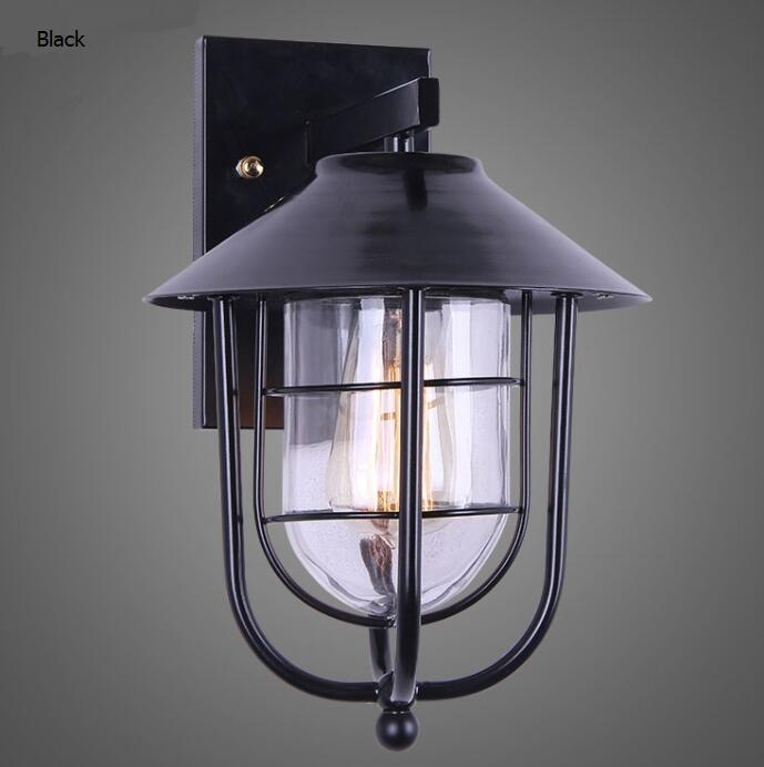 Vintage industrial wind black iron Wall Lamps waterproof wall garden corridor creative Edison lamp Cafe Restaurant LU623 ZL473 ledream milan wind meal with corridor creative arts roft corridor restaurant style restaurant adornment wall lamp