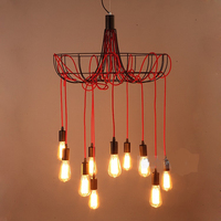 Loft bar iron Pendant Lights festival lights The heavenly maids scatter blossoms creative Pendant lamps LU728305