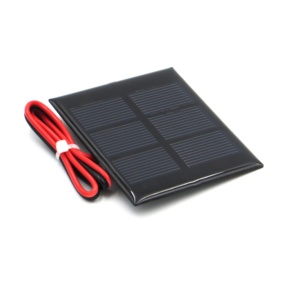 1pc x 1.5V 300mA with 30cm extend wire Solar Panel Polycrystalline Silicon DIY Battery Charger Small Mini Solar Cell cable toy