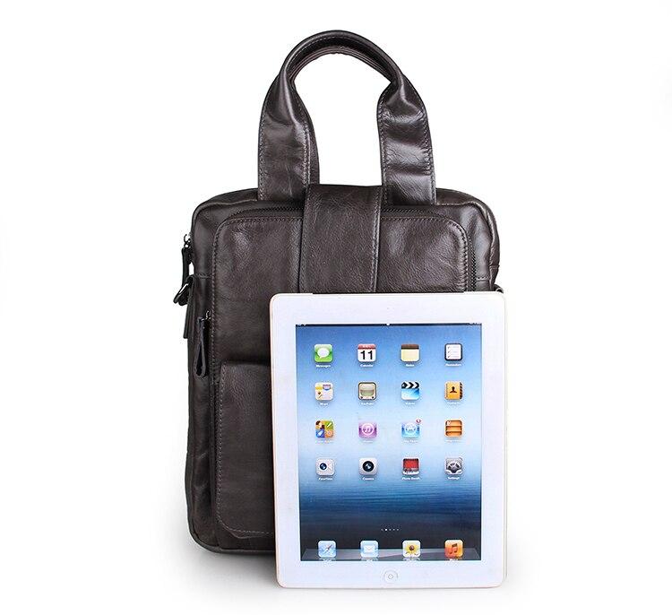 J.M.D Cow Leather Messenger Bag Dark Grey Flap Crossbody Bag Fashion And Practical Small Handbag For Men 7266I concise men s messenger bag with embossing and dark color design
