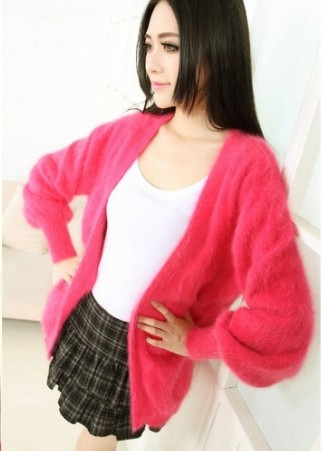 Knitted Sweater Mink-Cashmere-Jacket Women's Coat Long Fur F565 Mink-Fur Genuine