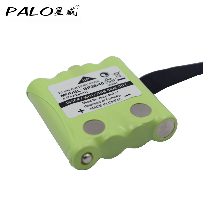 PALO 4.8V 700mAh NI-MH Rechargeable Battery For Uniden BP-38 BP-40 BT-1013 BT-537 For MOTOROLA TLKR T4 T5 T6 T7 T8 GMR FRS alien mini r