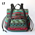 2017 Women Vintage Feminine Backpack Casual PU Leather Bohemian Boho Tribal Hippie Retro Folk Gypsy Ethnic Bag For Teenage Girls