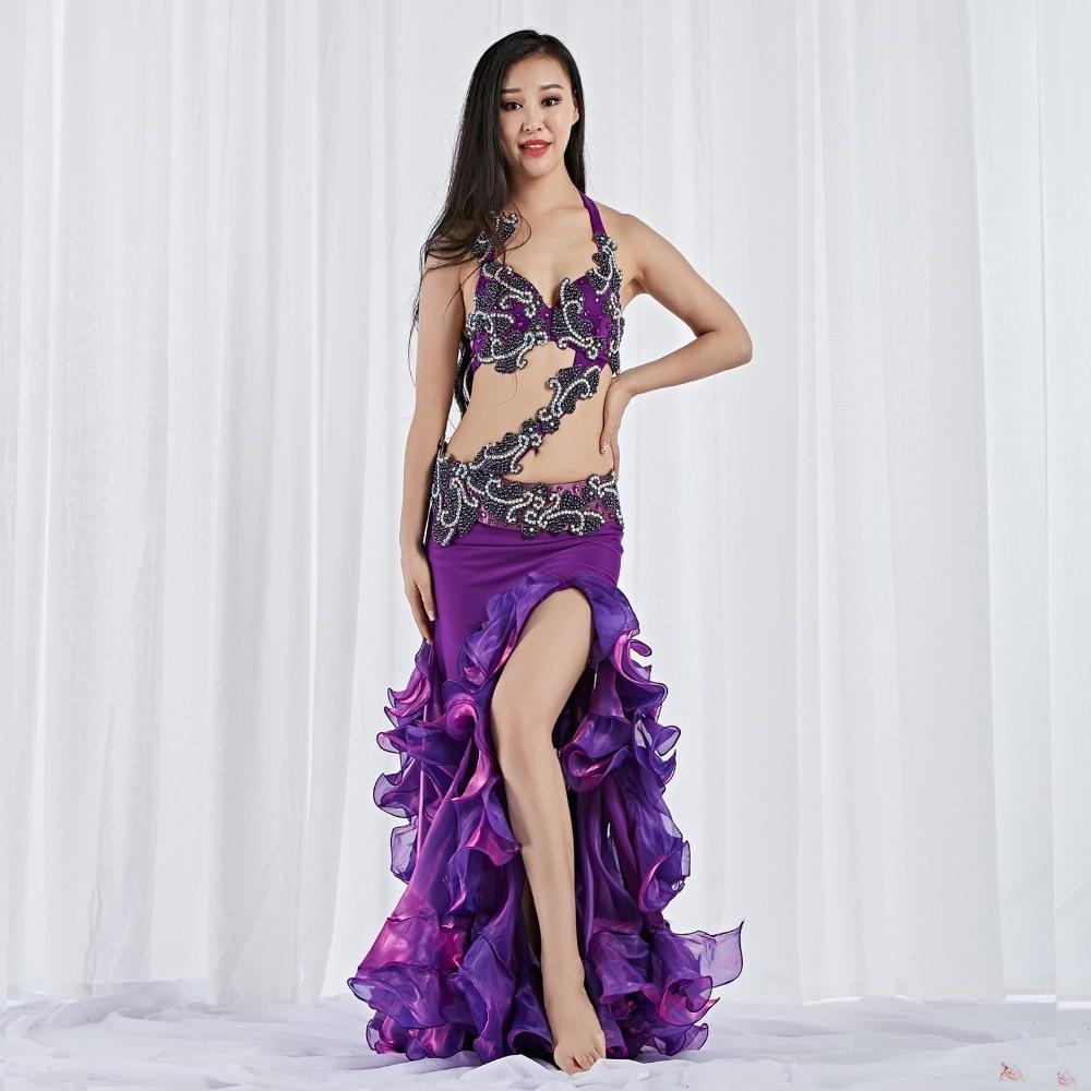2019 Belly Dancing Egyptian Clothes Oriental Dance Professional Women Belly Dance Costume Bra Belt Skirt Customize