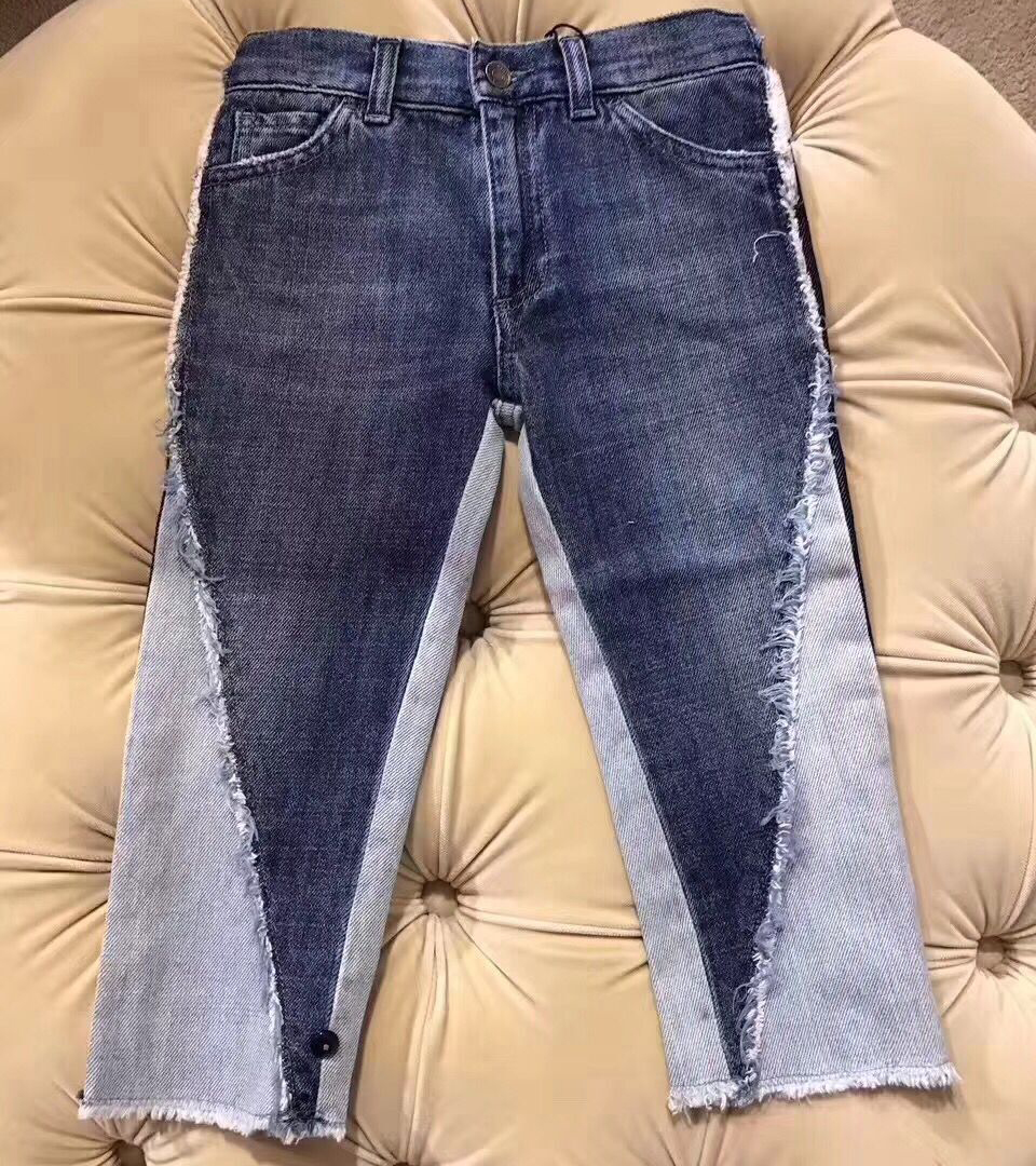 Kid Fashion Denim Pants Boys Jeans Baby Girls Jeans Kids Cotton Casual Children's Jeans Kids Trousers in middle of September vintage women jeans calca feminina 2017 fashion new denim jeans tie dye washed loose zipper fly women jeans wide leg pants woman