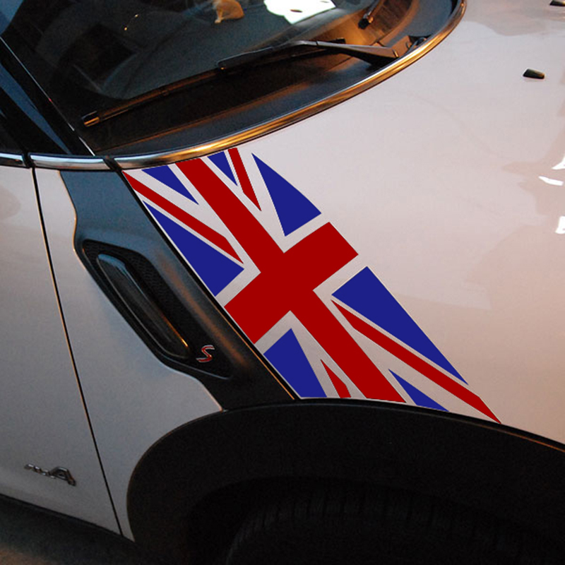 Union Jack Car Auto Hood Scratched Sticker Engine Cover Decal For MINI Cooper R60 Countryman R61 Paceman Car Styling Accessories aliauto car styling car side door sticker and decals accessories for mini cooper countryman r50 r52 r53 r58 r56