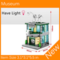 2017 New Mini Street View Building Block Museum Have Light Compatible With Legoes City Toys SD6513 Free shipping
