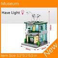 2017 Novo Mini Street View Museu Tem Luz Compatível Com Legoes Bloco de Construção Brinquedos Da Cidade SD6513 Frete grátis