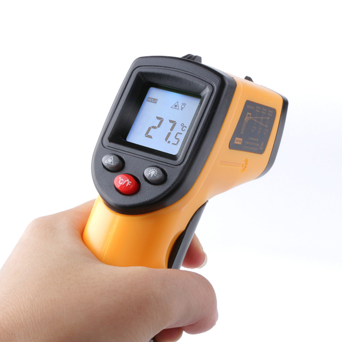 Non-Contact Industrial Infrared Laser Gun Thermometer 12:1 LCD Digital IR Auto Temperature Meter Sensor -50~380C GM320