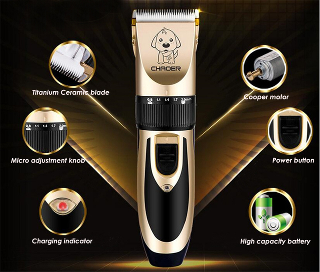 Professional Rechargeable Low Noise Pet Trimmers