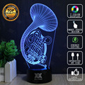 Guitar Instrument 3D Lamp USB Lamp Novelty Night Light Home decoration Lights LED Colorful Glowing Child's Gift HUI YUAN Brand