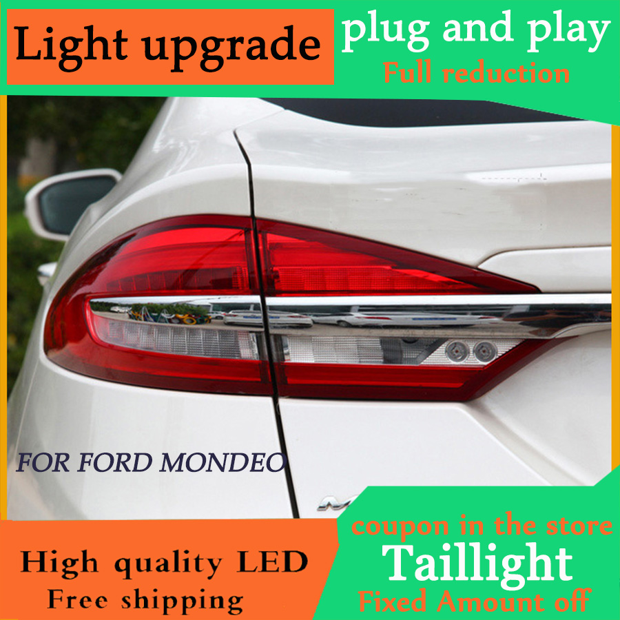 D YL Ford Mondeo Fusion Taillights 2017 2018 2019 Ford Fusion Taillights LED Tail Lamp Rear
