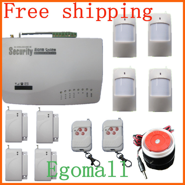Freeshipping Most Cost-Effective Wireless Home Intelligent Burglar GSM Alarm System 900/1800/1900Mhz